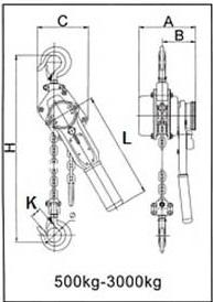 Схема для тали ручной рычажной Tehnolift HSH-150 1,5 т