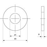 Шайба  12 плоская (кузовная), DIN 9021