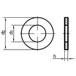 Шайба 12 плоская, DIN 125А, цинк